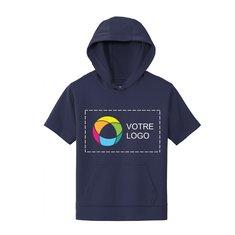 Sport-Tek® Youth Sport-Wick® Short Sleeve Hooded Pullover