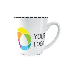 Full-Colour Wraparound White Conical Mug