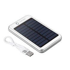 Avenue™ PB-4000mAh Bask Solar Powerbank Laser Engraved