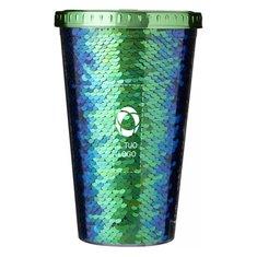 Bicchiere in acrilico con paillettes Festus Bullet™ da 470 ml
