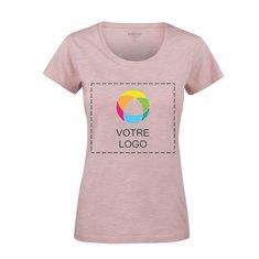 T-shirt à col rond en coton biologique flammé Twoville de Harvest (transfert de couleurs)