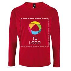 Camiseta deportiva de manga larga de Sol's® para hombre