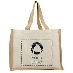 Bullet™ Varai 340 g/m² Canvas and Jute Shopping Tote Bag
