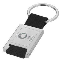 Rechteckiger Schlüsselanhänger mit Gurtband von Bullet™ mit Lasergravur