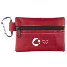 Zippered First Aid Pouch with Alcohol and Antiseptic Wipes