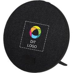 Avenue™ Bluetooth®-højttaler med stof med fuldt farvetryk