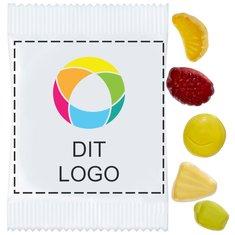 Minifrugtsalat-vingummier med vitaminer, pakke med 500 stk.