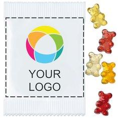 Vegan Fruit Gum Bears, Pack of 500pcs