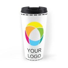 Full-Colour Wraparound White Travel Mug