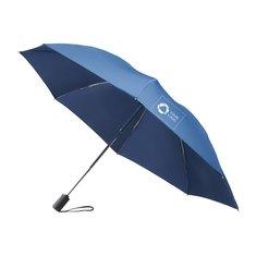 Marksman™ vändbart paraply med teleskopskaft i tre sektioner och automatisk öppning