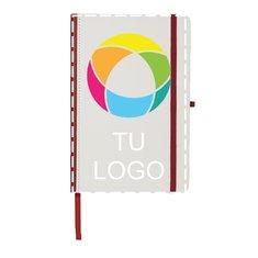 Libreta con impresión digital, lomo de color y cubierta de poliuretano de JournalBooks®