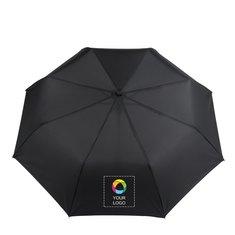 Paraply med teleskopskaft i tre sektioner och automatisk uppfällning