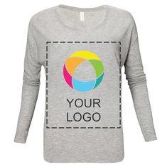 Bella + Canvas® Ladies' Flowy Long Sleeve T-Shirt With 2x1 Rib Sleeves