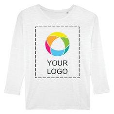Stella Turns Slub Women's Long Sleeve Dropped Shoulder T-Shirt Ink Printed