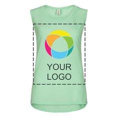 Camiseta de tirantes Flowy Muscle de Bella + Canvas® para mujer