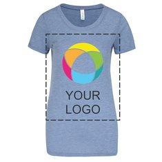 Bella + Canvas® trefärgad T-shirt i dammodell