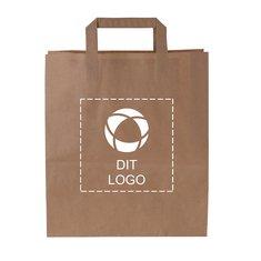 Mellemstor budgetpapirpose med flade bærehåndtag