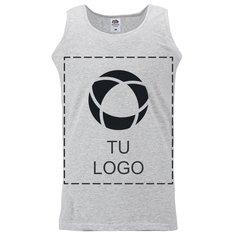 Camiseta deportiva de tirantes con estampado monocolor de Fruit of the Loom® para hombre