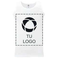 Camiseta deportiva de tirantes con estampado monocolor de Fruit of the Loom® para hombre