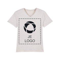 Stanley Presenter heren-T-shirt met V-hals en drukwerk in 1 kleur