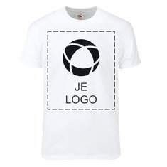 Fruit of the Loom® Super Premium Heren T-shirt met enkele kleuropdruk