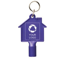 Bullet™ Maximilian House-Shaped Meterbox key with keychain