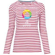 Sol's® Marine Gestreepte T-shirt met Lange Mouw voor Dames