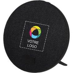 Haut-parleur Bluetooth® en tissu avec support d'Avenue™ imprimé en couleur