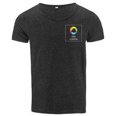 Mantis™ T-shirt med råskuren kant och vidare halsringning i herrmodell