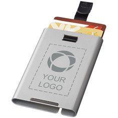 Tarjetero con inhibidor RFID grabado con láser Pilot de Marksman™