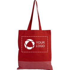 Bullet™ Aylin Silver Lines Cotton Tote Bag