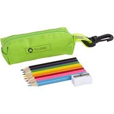 Juego de estuche, sacapuntas y 8 lápices de colores de Bullet™
