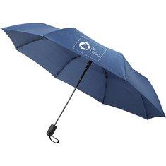 Avenue™ Gisele opvouwbare automatische paraplu 21 inch met gemêleerd bandje