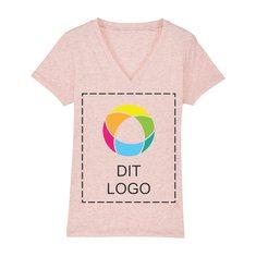 Stanley Evoker dame-T-shirt med v-halsudskæring i enkeltfarvetryk