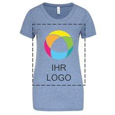 Kurzärmeliges Triblend-T-Shirt für Damen von Bella + Canvas®
