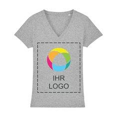 Damen-T-Shirt Stella Evoker mit V-Ausschnitt und Tintendruck
