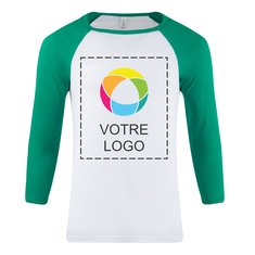 T-shirt unisexe manches raglan trois quarts Bella + Canvas®