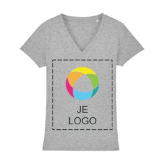 Stella Evoker dames-T-shirt met V-hals en inktbedrukking