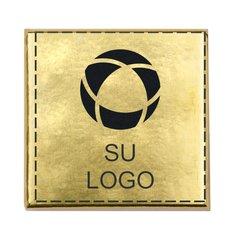 Cuadrados Lanco de chocolate de leche envueltos en papel aluminio dorado, paquete de 1200 cuadrados.