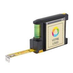 Mètre dérouleur 2 m avec niveau imprimé en couleur