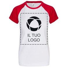 Maglietta da donna a maniche corte con stampa a tinta unita Milky Sol's®