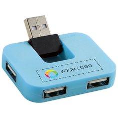 Bullet™ Gaia 4 Port USB Hub Full Colour Print