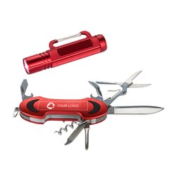Geschenkset Ranger von Bullet™ mit Taschenmesser und Taschenlampe