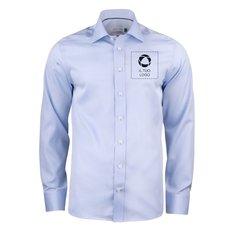 Camicia da uomo con vestibilità normale e stampa monocolore Green Bow 01 J. Harvest & Frost