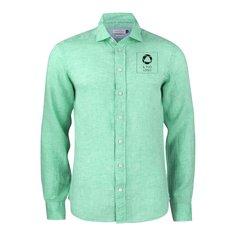 Camicia aderente con stampa monocolore Indigo Bow 33 J.Harvest & Frost