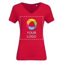 B&C™ Organic t-shirt med v-udskæring til damer