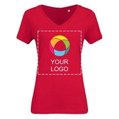 T-shirt femme à col en V en coton biologique de B&C™