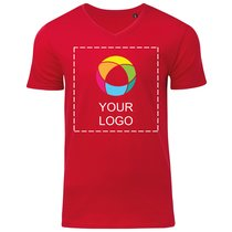 B&C™ ekologisk V-ringad T-shirt i herrmodell