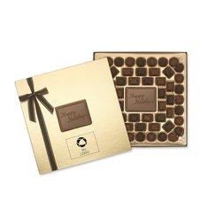"""Caja de obsequio grande """"Happy Holidays"""" de delicias de chocolate, 56 unidades - Paquete de 12 cajas"""