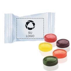 Caramelos frutales FlavorBurst® Crystal en envases individuales, Paquete de 1000 envases